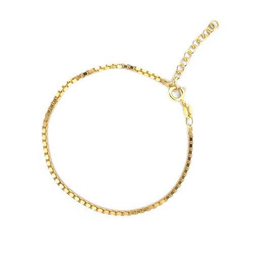 Sterling Silver 2mm Venetian Box Bracelet