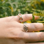 Silver Plain Tiffany Inspired Infinity Ring (R-1175)