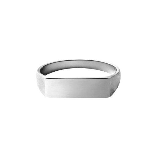 Sterling Silver Rectangular Signet Ring (R-1376)