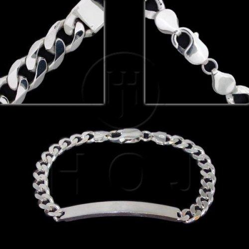 Silver ID Bracelet Curb(ID-GD-150) Women's 5.5mm