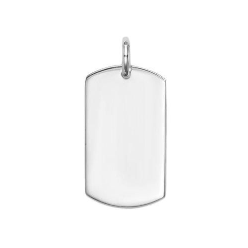 Silver Large Medical Dog Tag Pendant(DT-116)