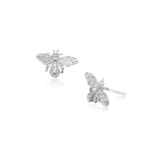 Sterling Silver Plain Bee Studs (ST-1523)