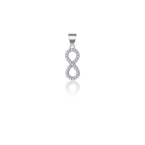 Sterling Silver CZ Infinity Pendant (P-1455)