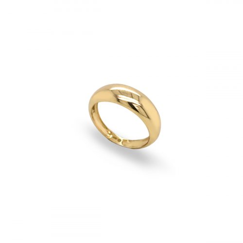 10K Yellow Gold Plain Dome Ring (GR-10-1100)