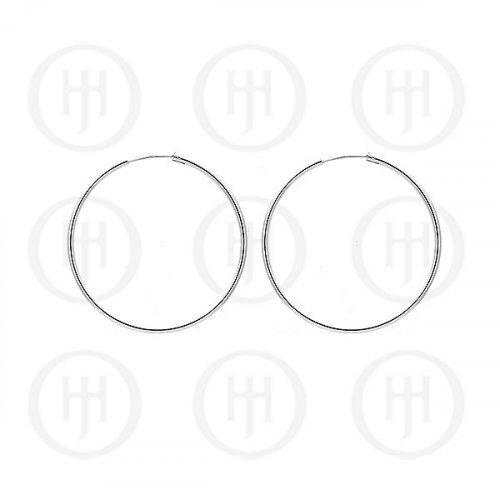 Silver Plain Hoop 45mm x 2.25mm (HP-225-45)