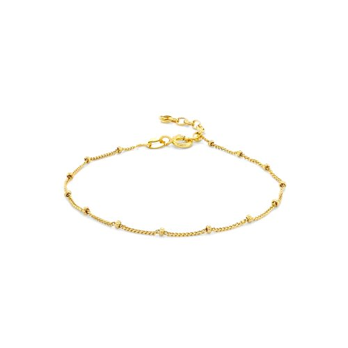 Sterling Silver Satellite Chain Anklet (ANK-1097)