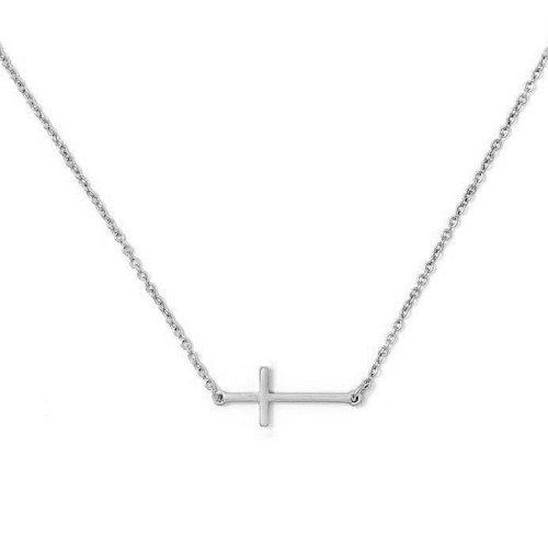 Sterling Silver Plain Cross Necklace (N-1475)