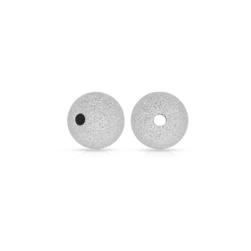 Sterling Silver Round Sandblasted Bead 8mm (BD-SB-8)