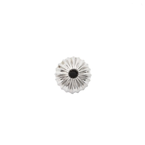 Sterling Silver Round Fluted Bead 6mm (BD-FL-6)