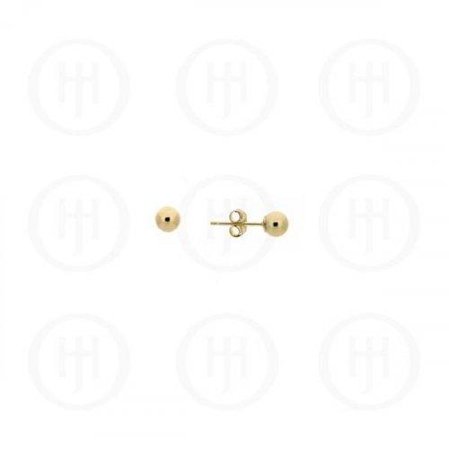 10K Gold Earrings Ball Stud 2mm (G-BE-2-10K)