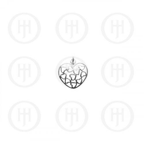Silver Multi-Heart Pendant (P-1049)