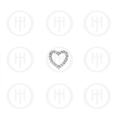 Silver CZ Heart Pendant (P-1126)