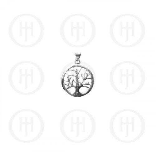 Silver Plain Tree of Life Pendant (P-1097)