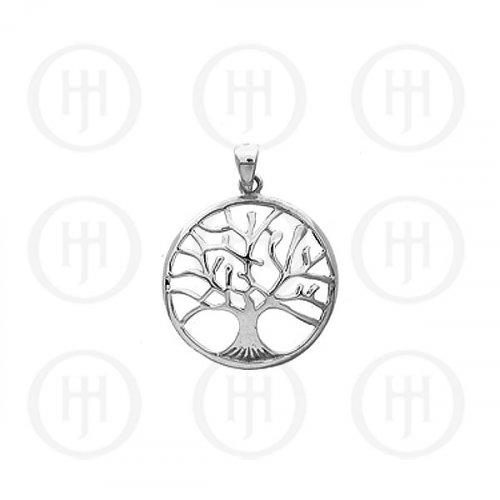 Silver Plain Tree of Life Pendant (P-1100)
