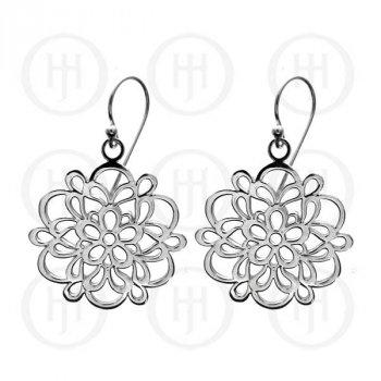 Sterling Silver Plain Dangle Earrings (ER-1054)