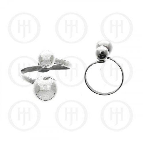 Silver Plain Ball Ring (R-1121)