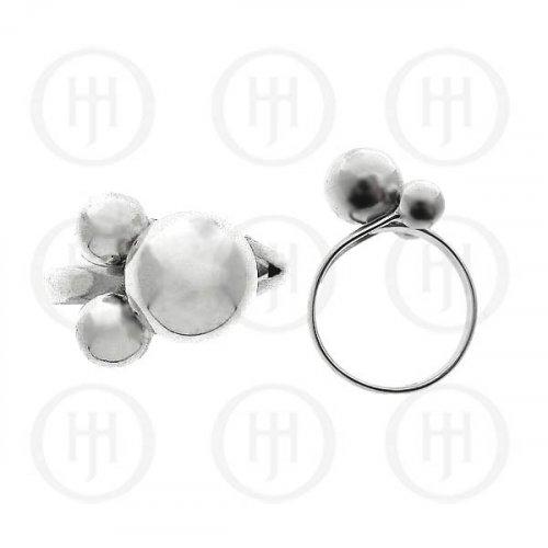 Silver Plain Ball Ring 10mm (R-1122)