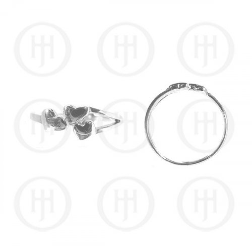 Silver Plain Heart Ring (R-1133)
