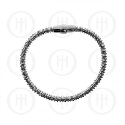 Silver Magnetic Tri-Colour Rhodium Plated Bracelet (MB-1006-S)