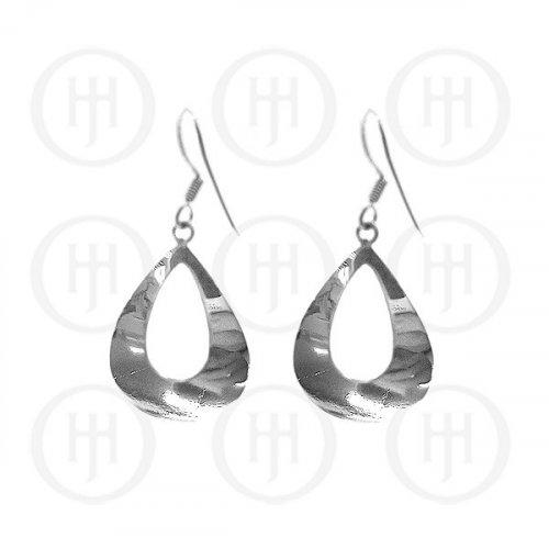 Silver Plain Dangle Earrings (ER-1009)