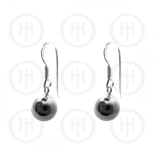Silver Dangle Ball Earrings 10mm (ER-1019-10)