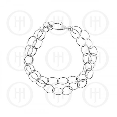 Silver Rhodium Plated Bracelet (BR-1046)