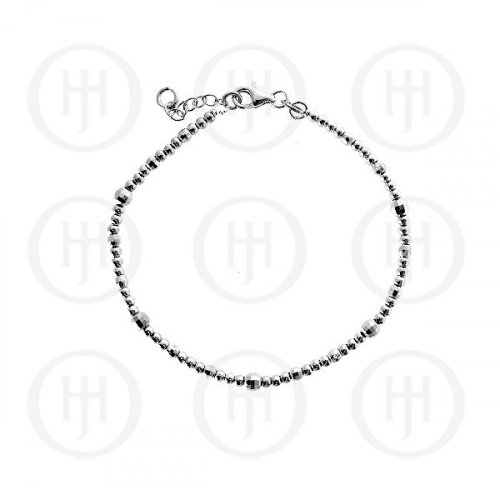 Silver Fancy Italian Rhodium Plated Bracelet (BR-1048-S)