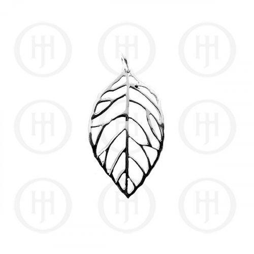 Silver Plain Leaf Pendant (P-1101)