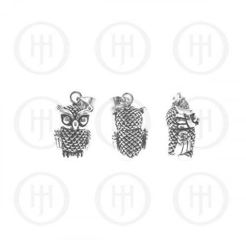 Silver Movable Pendant OWL SMALL (P-1057)