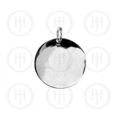 Silver Round Dog-Tag Pendant 25mm (DT-C-100)