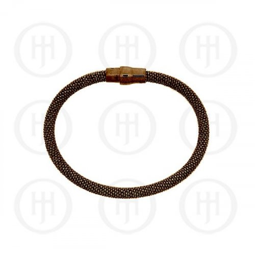 Sterling Silver Magnetic Bracelet 5mm (MB-1005-CH) Chocolate Brown