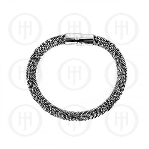 Silver Magnetic Tri-Colour Bracelet 8mm (MB-1001)