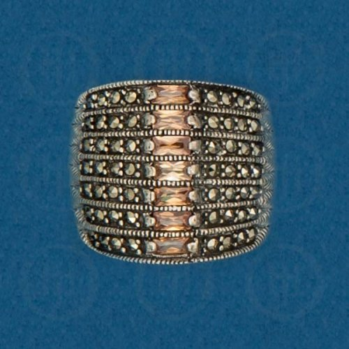 Silver Marcasite Ring R-M-1063-C