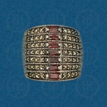 Silver Marcasite Ring R-M-1063-G