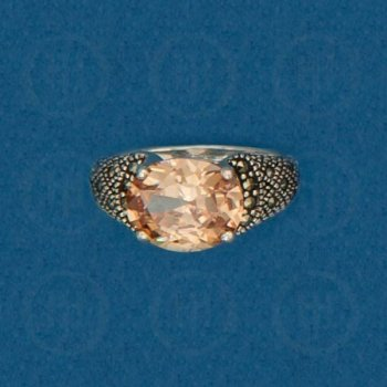Silver Marcasite Ring R-M-1055-C