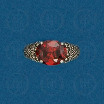 Silver Marcasite Ring R-M-1055-G