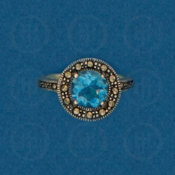 Silver Marcasite Ring R-M-1057-BT