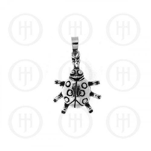 Silver Movable Pendant Lady Bug (P-1166)