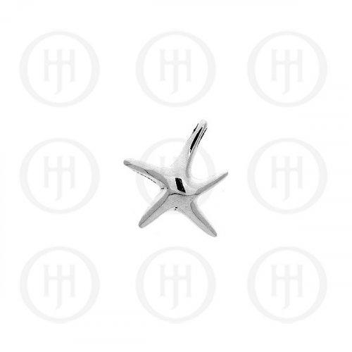 Plain Silver Starfish Pendant (P-1187)
