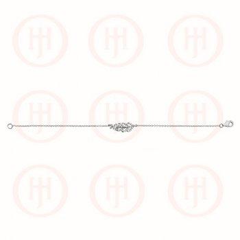 Sterling Silver CZ Leaf Bracelet (BR-1131)