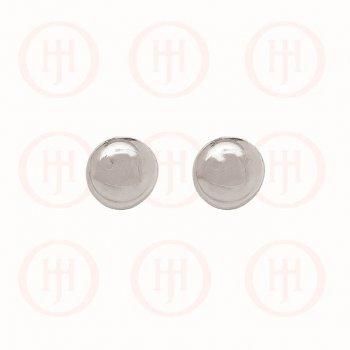 Silver Rhodium Plated Smarties Ball Stud Earrings (ST-1074)