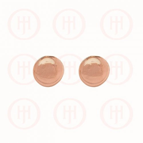 Silver Rose Colour Plated Smarties Ball Stud Earrings (ST-1074-R)