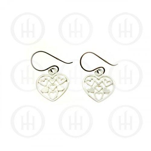 Silver Plain Heart Earrings 10mm (ER-1111)