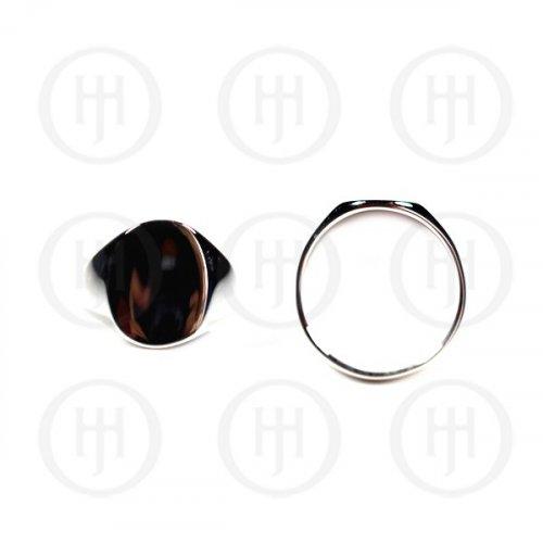 Men's Silver Plain Ring (RM-054)