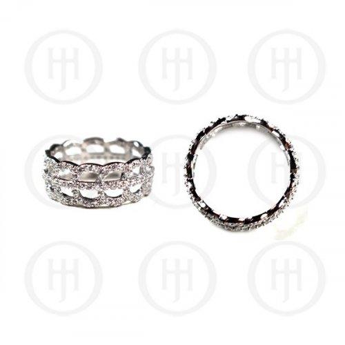 Silver plain CZ Ring (R-1228)