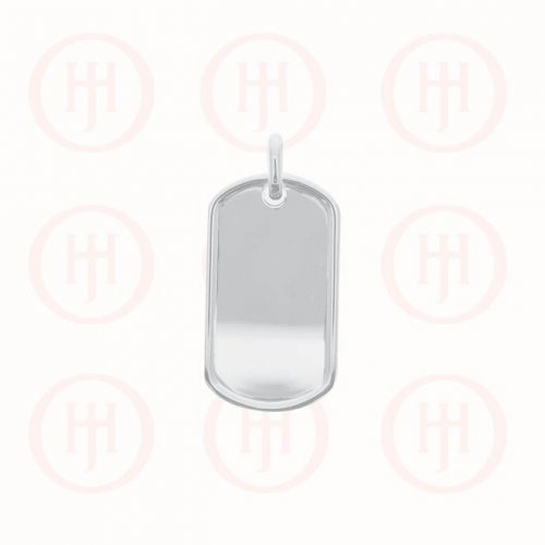 Silver Dog-Tag Pendant, Large (DT-113)