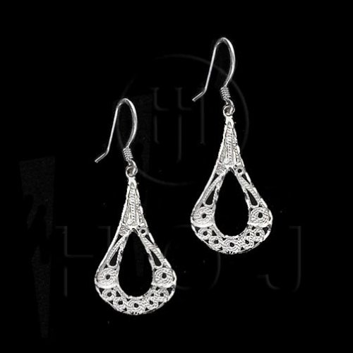 Silver Plain Dangle Earrings ED1149