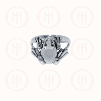 Silver Frog Ring (R-1260)
