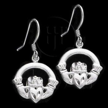 Silver Plain Dangle Earrings ED302Y