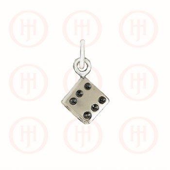 Silver Plain Die Pendant (P-1278)